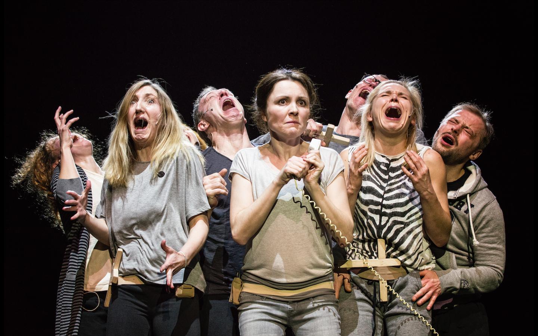 THE CURSE inspired by a play by Stanisław Wyspiański, directed by Oliver Frljić, premiere: 18.02.2017, Powszechny Theatre in Warsaw. Photographer: Magda Hueckel.