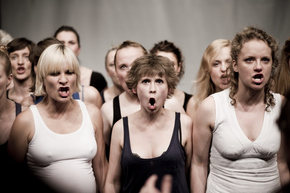 <i>Chorus of Women. Magnificat</i>, directed by Marta Górnicka, Zbigniew Raszewski Theatre Institute in Warsaw, premiere: 27.06.2011. Photographer: Krzysztof Krzysztofiak.
