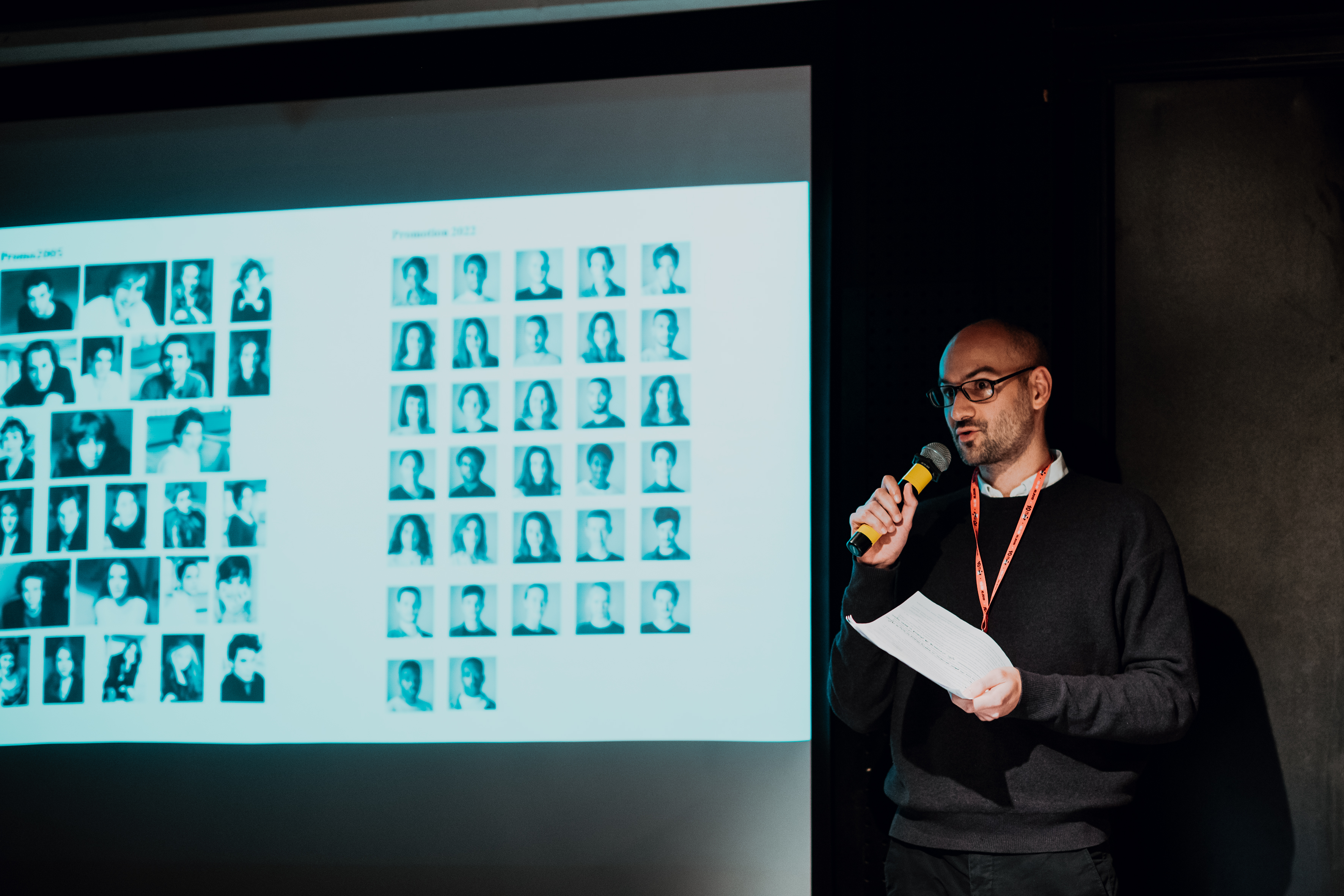 Elliot Marès during the 'Change - now!' conference, Teatr Ochoty, Warsaw, 7 October 2019, photo: Marta Ankiersztejn